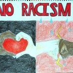 """NO to Racism"" by Myrsine Dimou (Patras, Greece)"